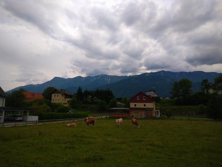 Een sombere dag in Fürnitz