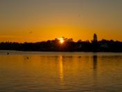 sunset on the broads