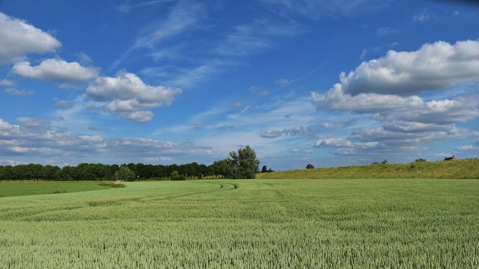 Mooie wolkenluchten vanmiddag