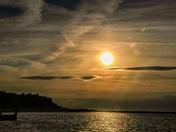 Sun Setting over Water