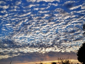 Amazing cloud formations with a beautiful sunset