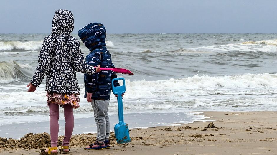 Strandvermaak in de jas
