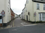 Queen Street, Honiton, as seen from opposite The Star Inn - Wetherspoon's