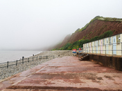Sidmouth cliffs in the fog