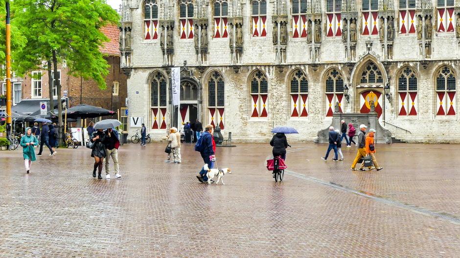 Lichte regenbuitjes/ Parapluweer