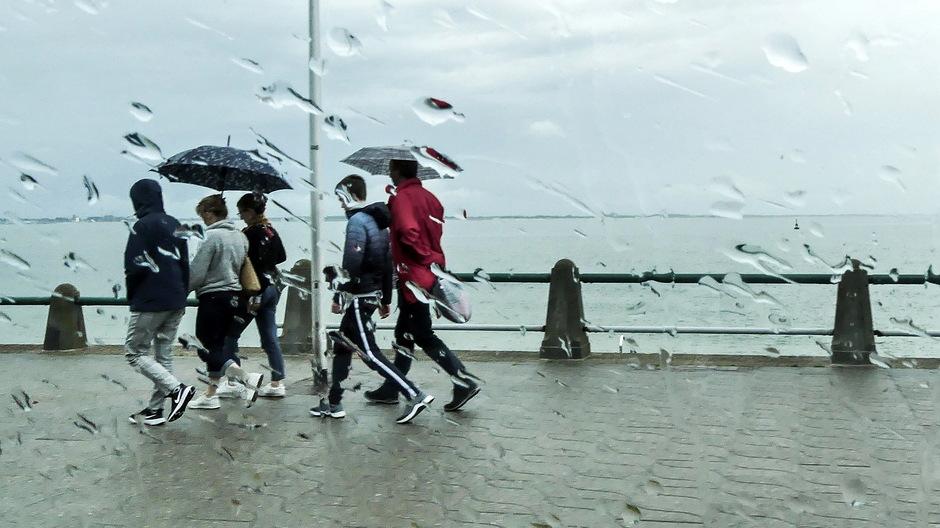 Regen en parapluweer