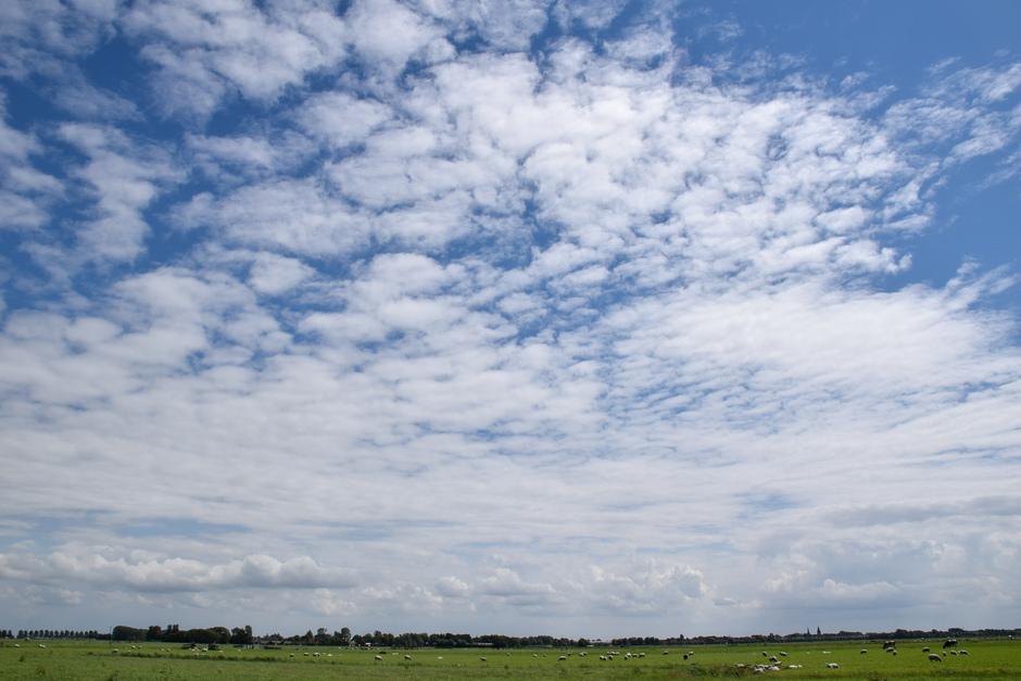 Stapel, sluier en schapenwolken in één, zon en pittige wind vanmiddag!