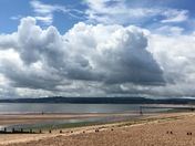 Storm clouds gathering over the Exe estuARY