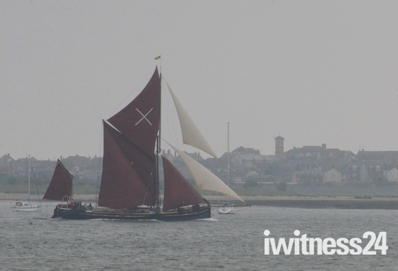 Barges passing Harwich during the Annual Barge Race