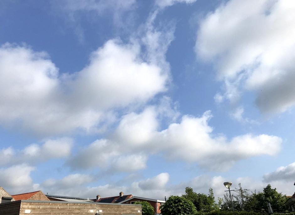 Mix van wolken en zon.