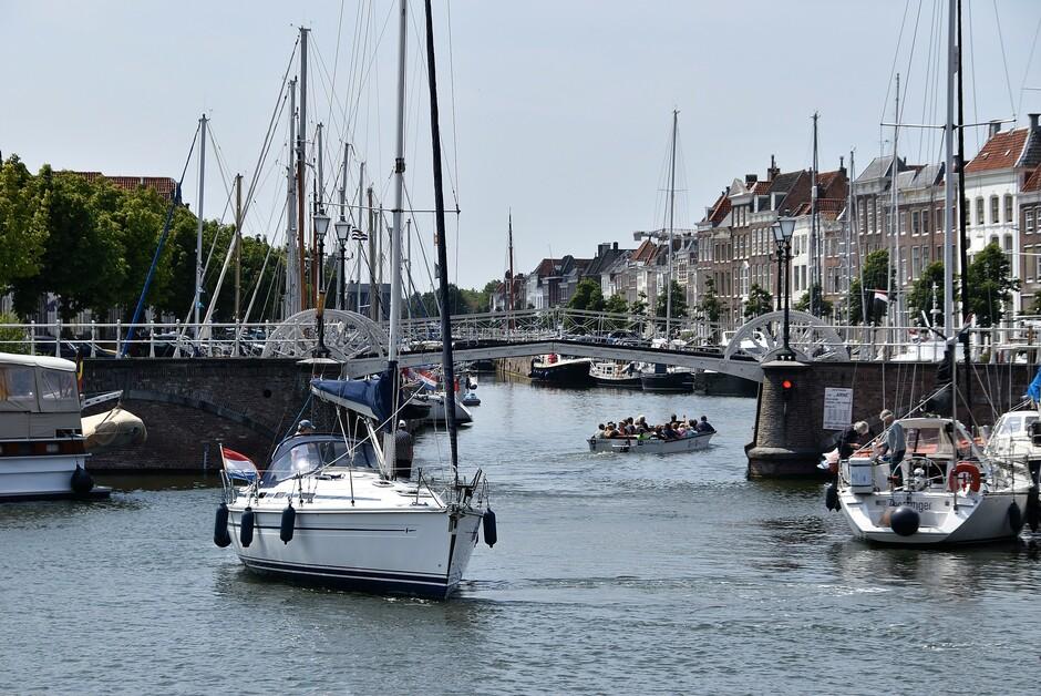 De haven van Middelburg