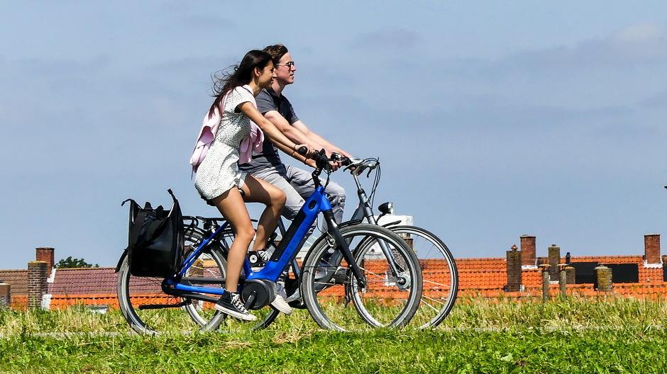 Zonnig en prima fietsweer