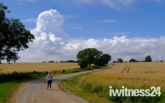 Suffolk walk with amazing clouds :)