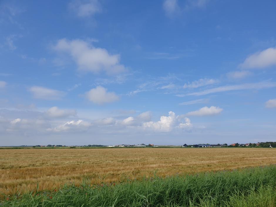 Onstabiele lucht boven Texel vanmorgen