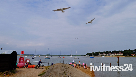 Two rivers bike ride - Deben to the Orwell