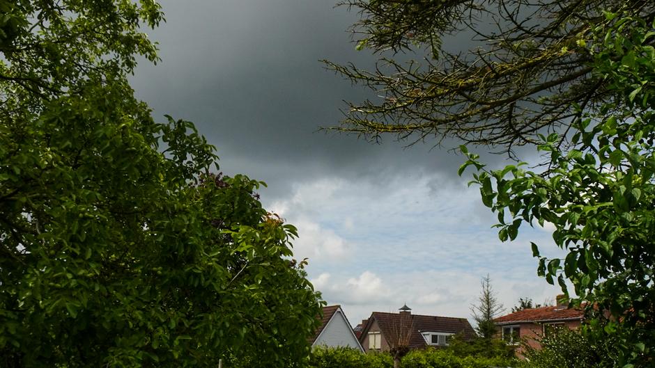 Dreigende lucht in de polder