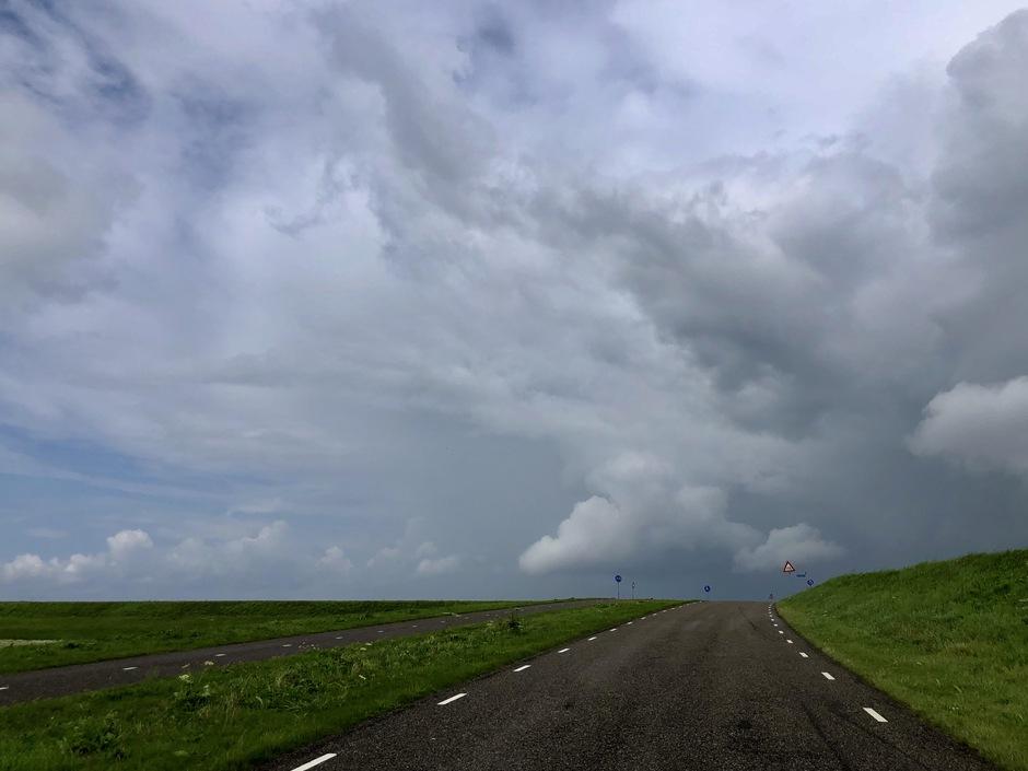 Bui regen in aantocht vanmiddag hielden we het niet droog