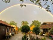 Farm yard rainbow