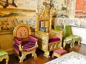 PROJ 52. NORFOLK STATELY HOMES.  HOUSE OF LORDS THRONES AT HOUGHTON HALL, HOUGHTON