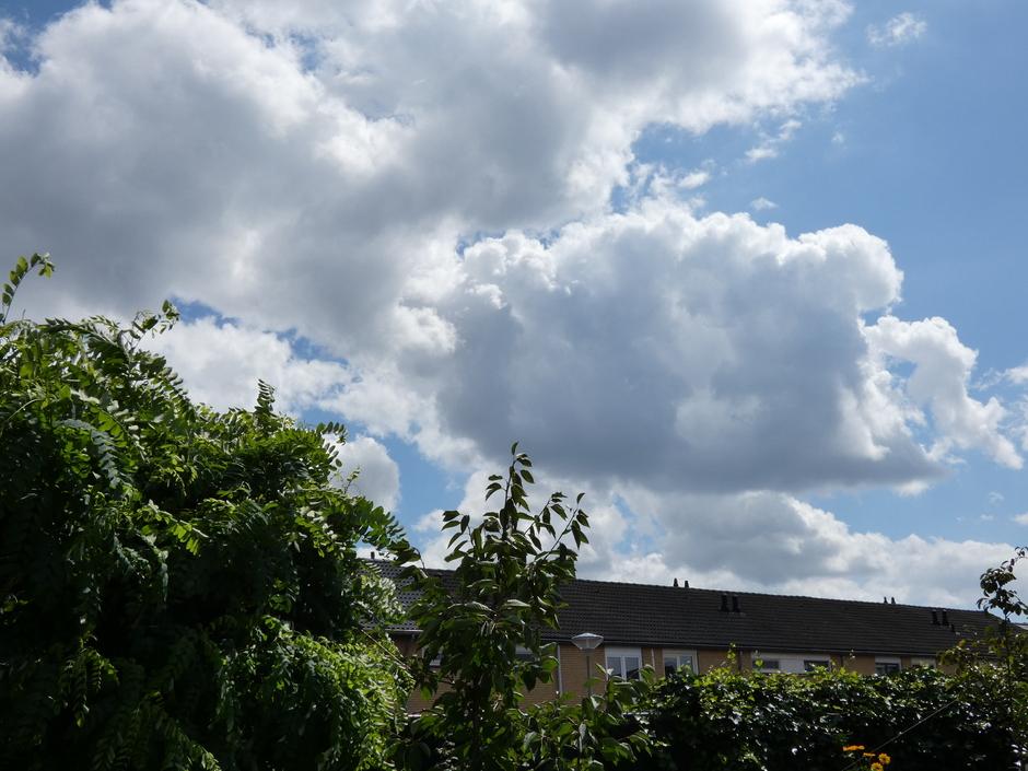 Steeds meer wolkenpartijen