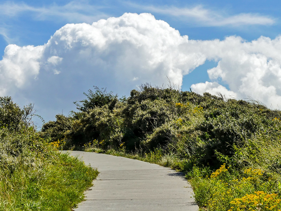 Zon en mooie stapelwolken