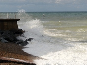 PROJ 52.  WEATHER.   HIGH TIDE AND STRONG WINDS AT SHERINGHAM
