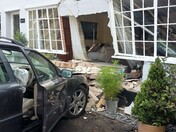 Car driven into house in Boxford