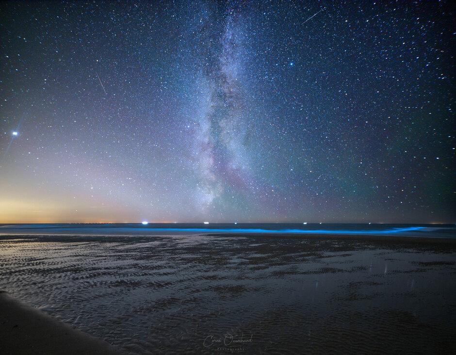 Vallende sterren, zeevonk én de melkweg!