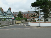 The new one-way system on side road passing the Grove, Exmouth
