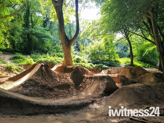 The ingenuity and beauty of the Weston Woods bike jumps