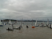 Dinghies returning to shore.