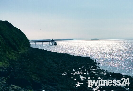 Clevedon Pier from the Clevedon to Portishead Coast Path