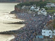 Crowds at the seafront
