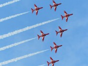 Red Arrows show in Sidmouth