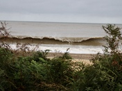 Waves rolling in at covehithe