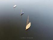 3 Sailing Boats on Hickling Broad Norfolk….