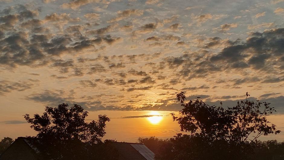 Een mooie zonsopkomst in z.w. Brabant
