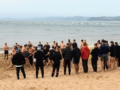 A brawl on the beach? No, rugby training!