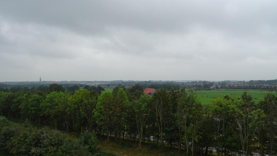 Grijs en wat heiig boven het Steenwijkerland