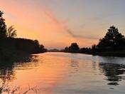 Oulton Dyke at Sunset