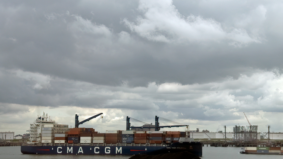 Motregen in de haven