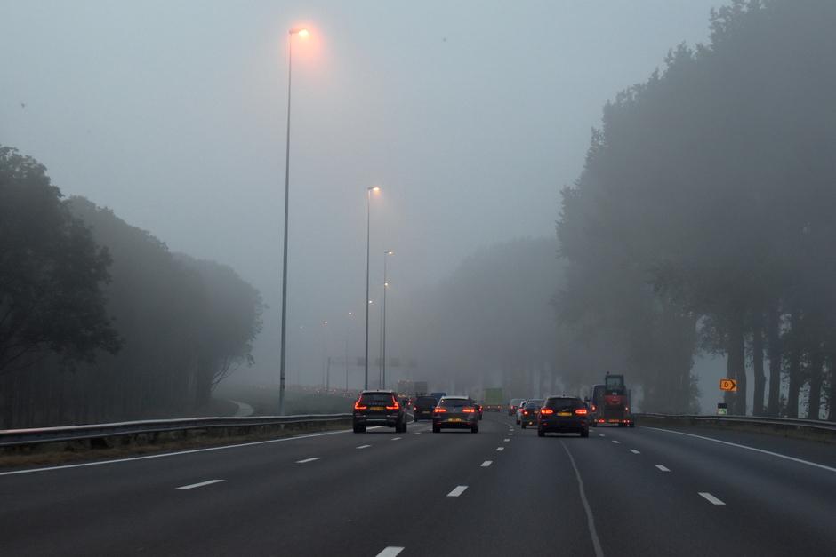 Mist geeft hinder