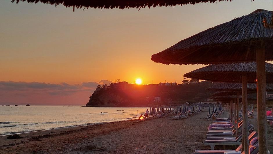 De zonsopkomst op Zakynthos