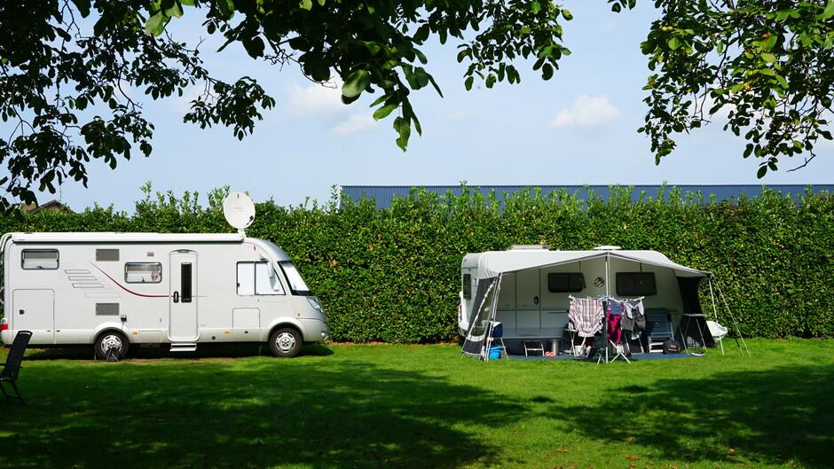 Na-zomeren op de camping