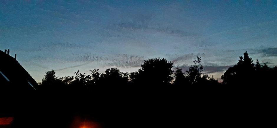 Na zonsondergang..