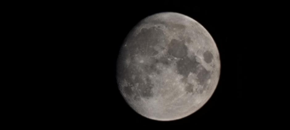 Maan gisteravond 22.30