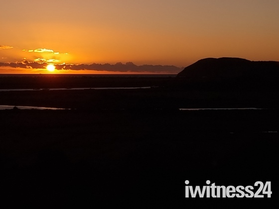 Sunset at Brean Down