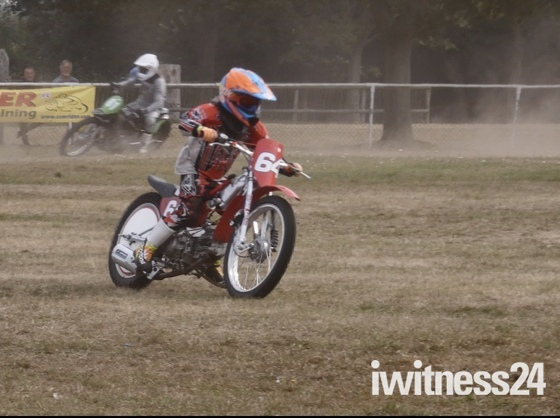 Grass track racing at Copdock Bike Show