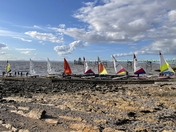 Clevedon Sailing Club dinghies on the slipway