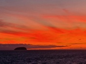 Steep Holm sunset